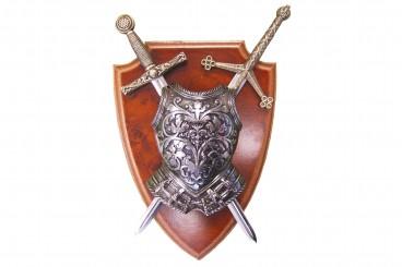 Armure et 2 épées panoplie