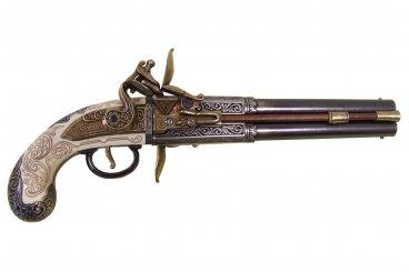 Pistolet à 2 pistolets rotatifs, Royaume-Uni, 1750