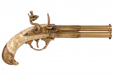 Pistolet de 2 pistolets rotatifs, France S. XVIII