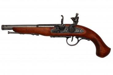 Pistolet à silex (gaucher), 18ème siècle.