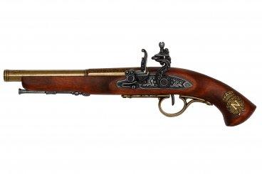 Pistolet à silex (gaucher), France, 18ème siècle.