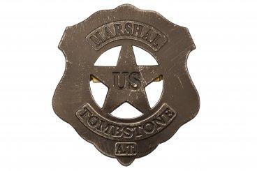 Plaque U,S Marshall tombstone